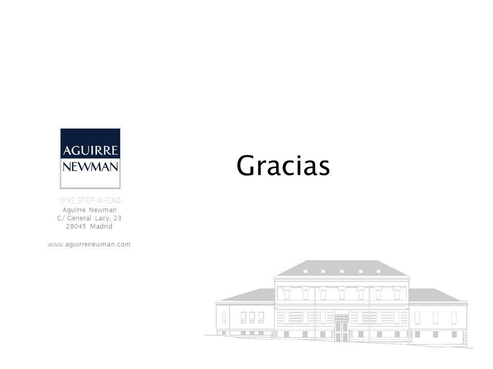 Aguirre Newman C/ General Lacy, 23 28045 Madrid www.aguirrenewman.com Gracias