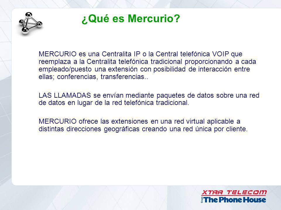 ¿Qué es Mercurio? MERCURIO es una Centralita IP o la Central telefónica VOIP que reemplaza a la Centralita telefónica tradicional proporcionando a cad