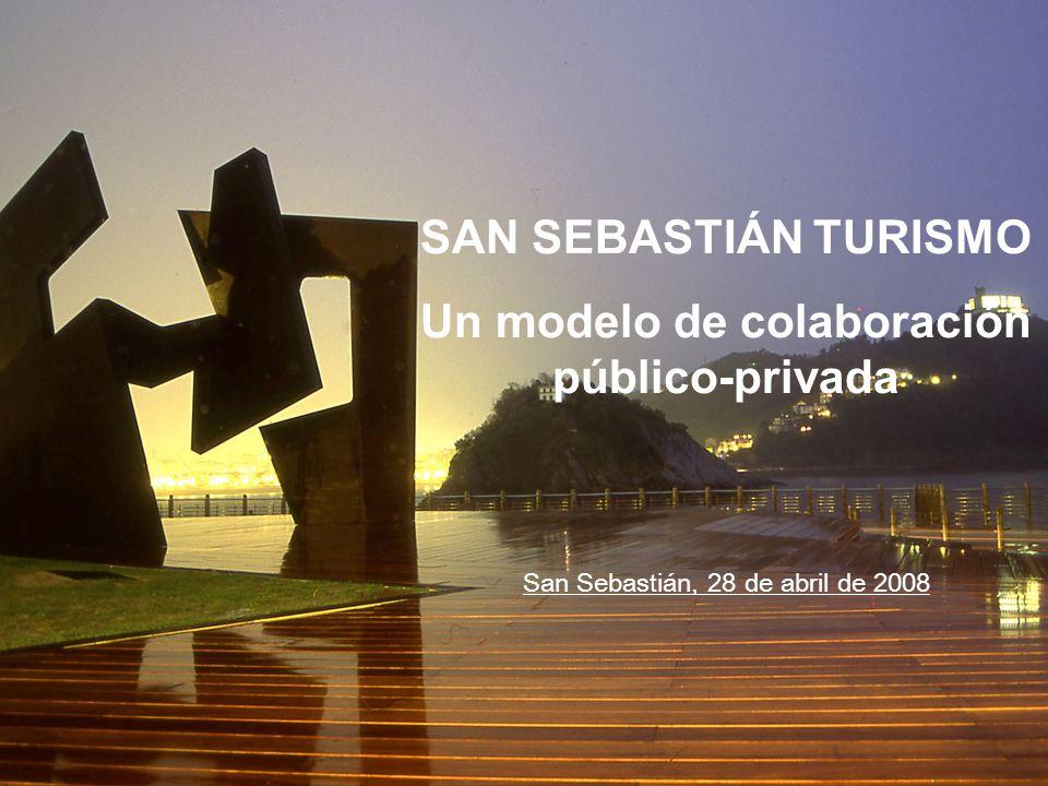 SAN SEBASTIÁN TURISMO Un modelo de colaboración público-privada San Sebastián, 28 de abril de 2008