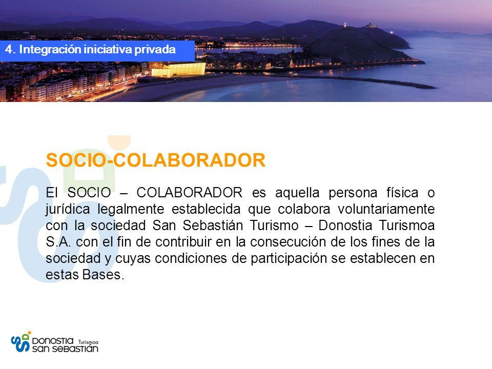 4. Integración iniciativa privada SOCIO-COLABORADOR El SOCIO – COLABORADOR es aquella persona física o jurídica legalmente establecida que colabora vo