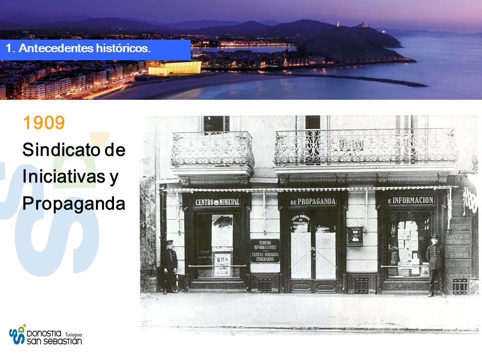 1909 Sindicato de Iniciativas y Propaganda 1. Antecedentes históricos.