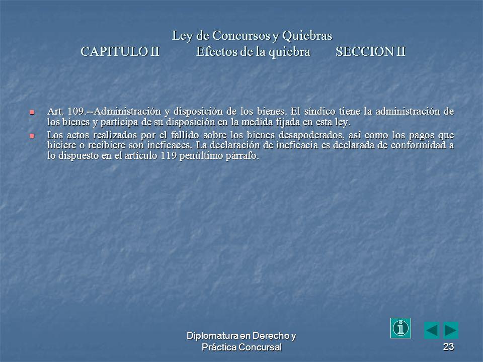 Diplomatura en Derecho y Práctica Concursal23 Art.