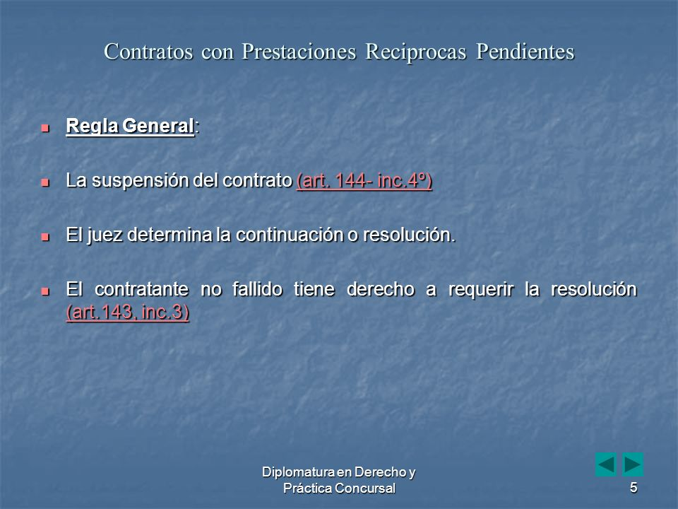 Diplomatura en Derecho y Práctica Concursal36 Art.