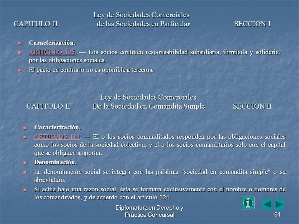 Diplomatura en Derecho y Práctica Concursal61 Caracterización.