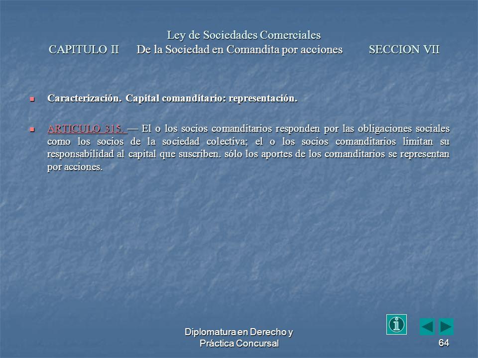 Diplomatura en Derecho y Práctica Concursal64 Caracterización.