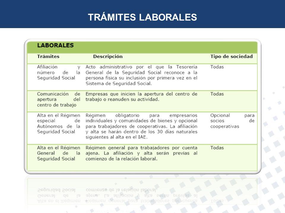 TRÁMITES LABORALES