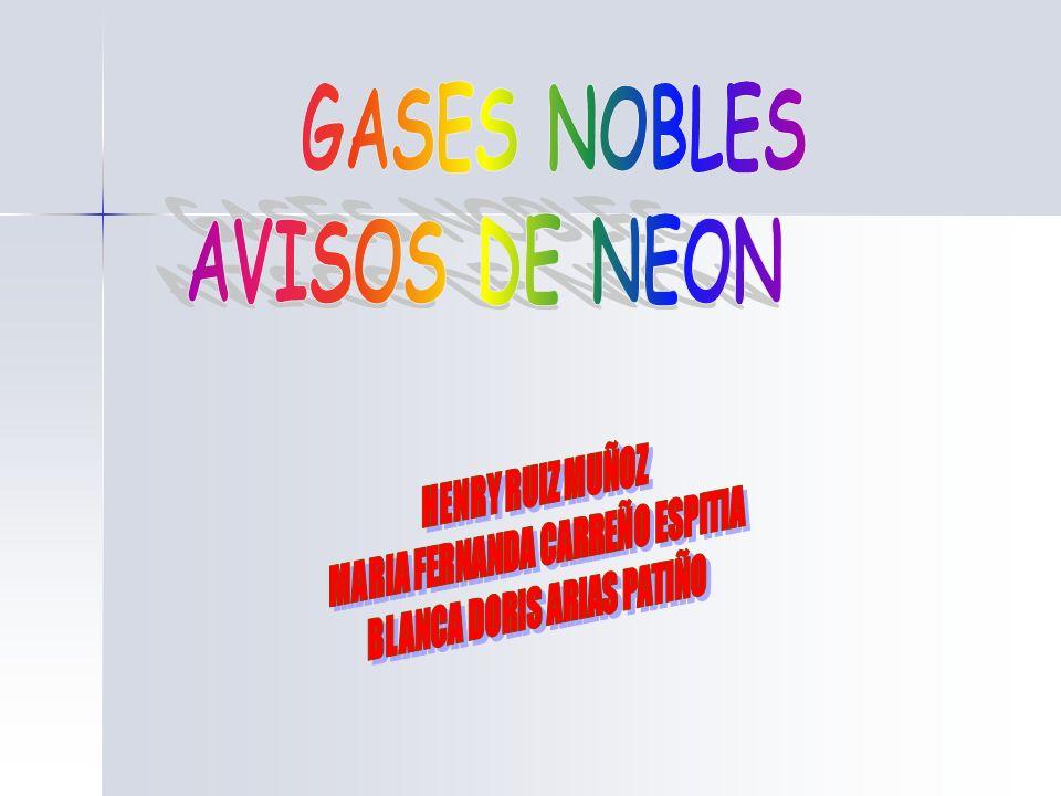 AVISOS DE NEON INTRODUCCIONJUSTIFICACION CARACTERISTICAS DEL NEON MARCO TEORICO LABORATORIOS DE INYECCION ANALISIS DE RESULTADOS CONCLUSIONES