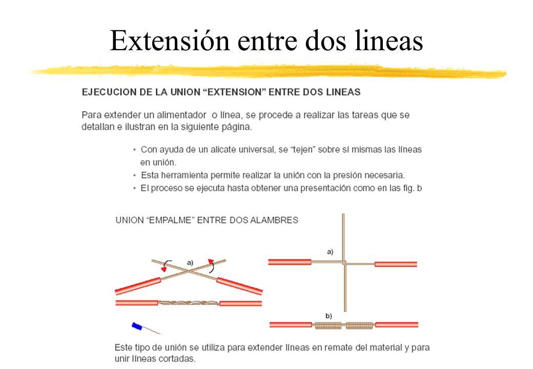 Extensión entre dos lineas