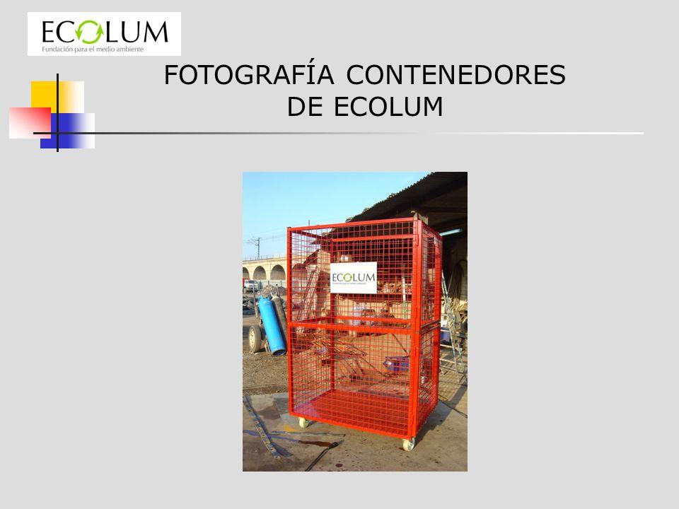 FOTOGRAFÍA CONTENEDORES DE ECOLUM