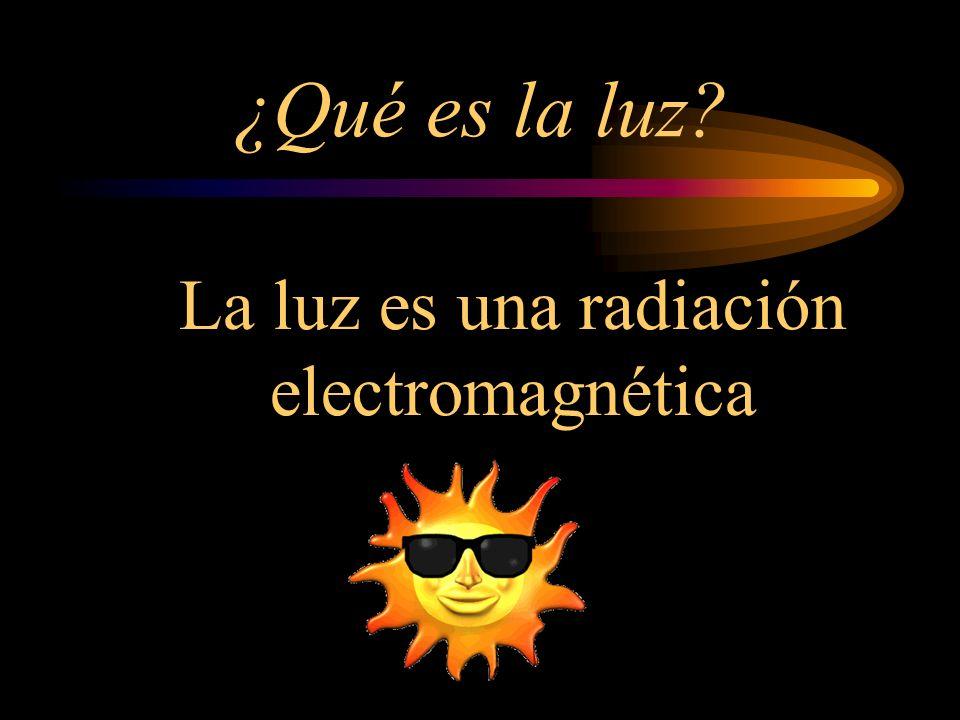 ¿Qué es la luz? La luz es una radiación electromagnética