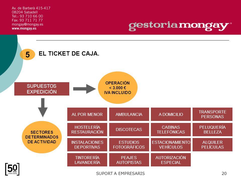 SUPORT A EMPRESARIS20 EL TICKET DE CAJA.