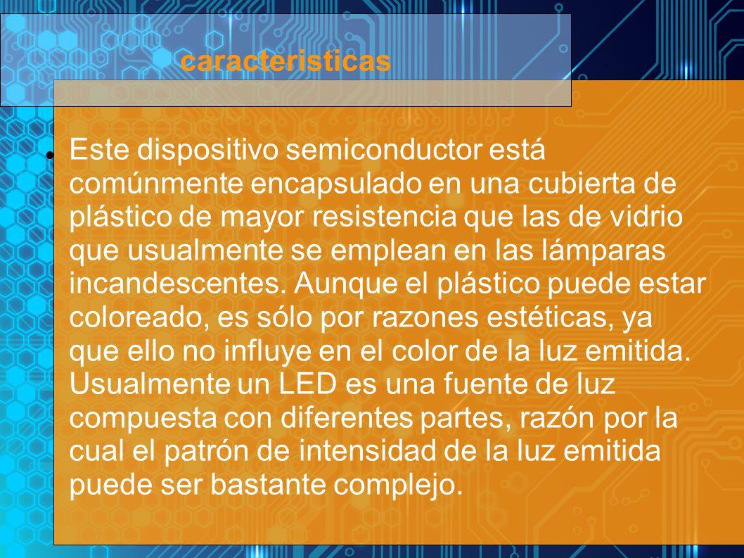 Este dispositivo semiconductor está comúnmente encapsulado en una cubierta de plástico de mayor resistencia que las de vidrio que usualmente se emplea