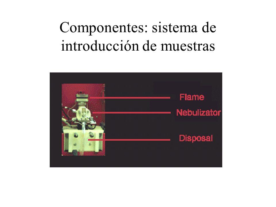 Componentes: sistema de introducción de muestras