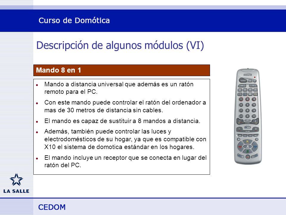 Descripción de algunos módulos (VI) Mando 8 en 1 l Mando a distancia universal que además es un ratón remoto para el PC.