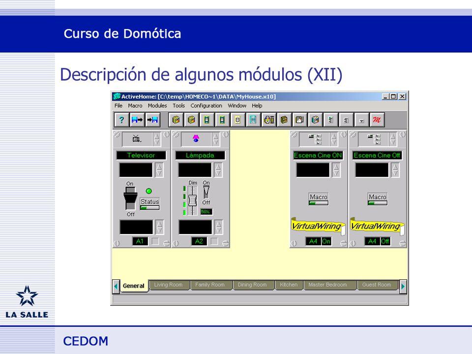 Descripción de algunos módulos (XII)
