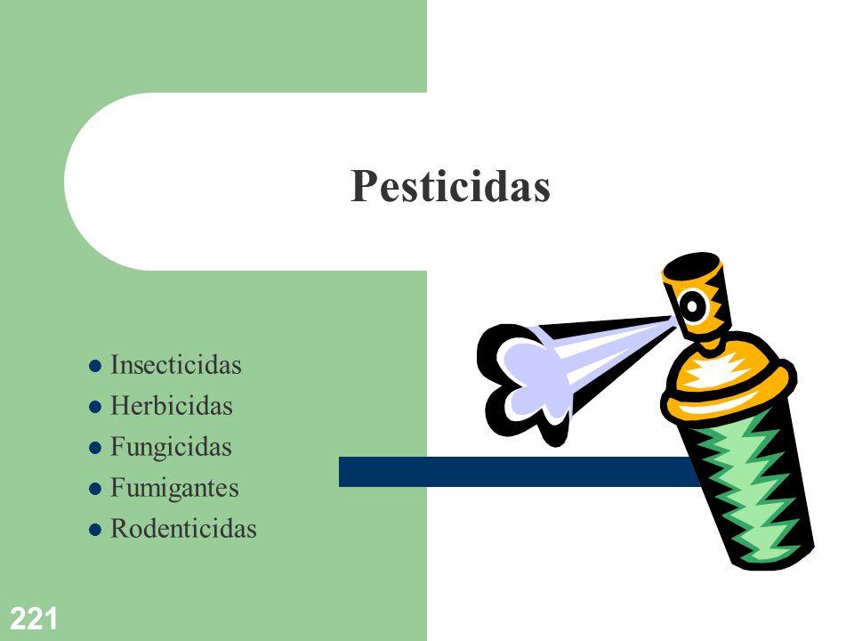 221 Pesticidas Insecticidas Herbicidas Fungicidas Fumigantes Rodenticidas
