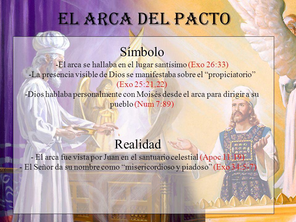 El Arca del Pacto Realidad - El arca fue vista por Juan en el santuario celestial (Apoc 11:19) - El Señor da su nombre como misericordioso y piadoso (