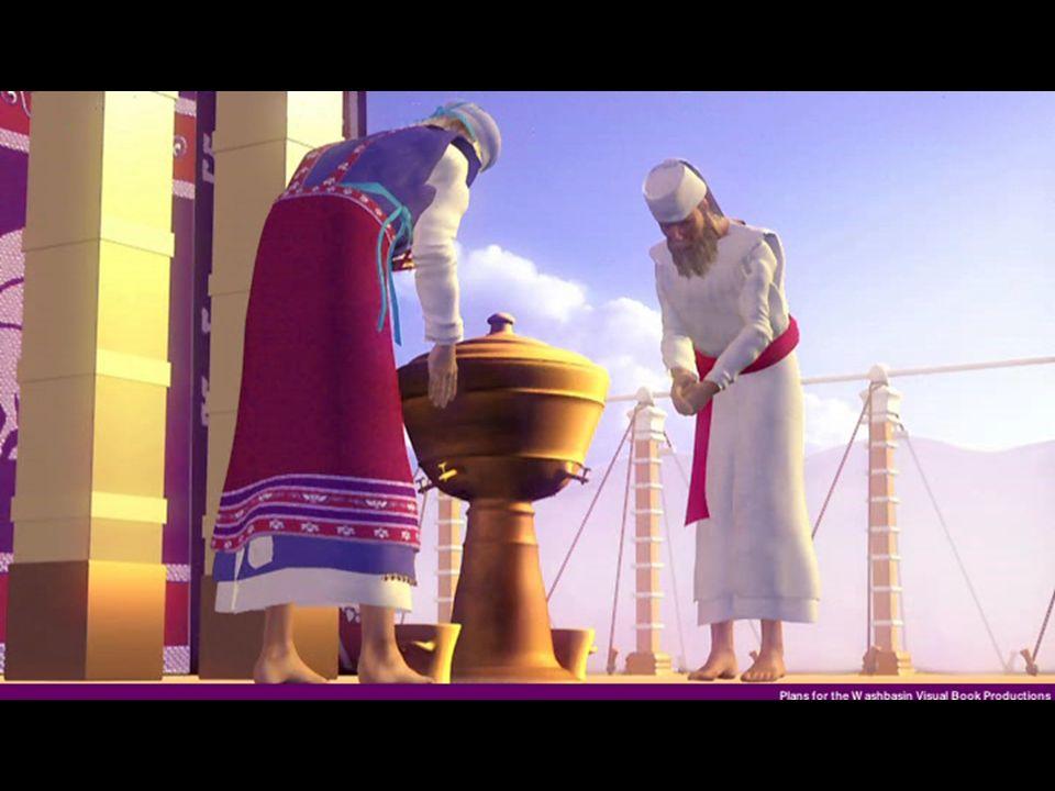 Lavacro Material - Hecho de bronce Símbolo - Simboliza el poder divino de penetrar en la vida del creyente, avivando su conciencia y ser conducido a los pies de la cruz, donde nuestro Señor nos transforma por el lavamiento y la regeneración del espíritu Tito: 3:5Realidad -Agua representa el espíritu Santo Jn 7:37 -Representa el bautismo Jn 3:5