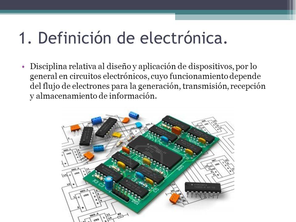 1.Definición de electrónica.