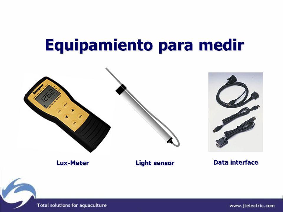 Equipamiento para medir Equipamiento para medir Lux-Meter Light sensor Data interface