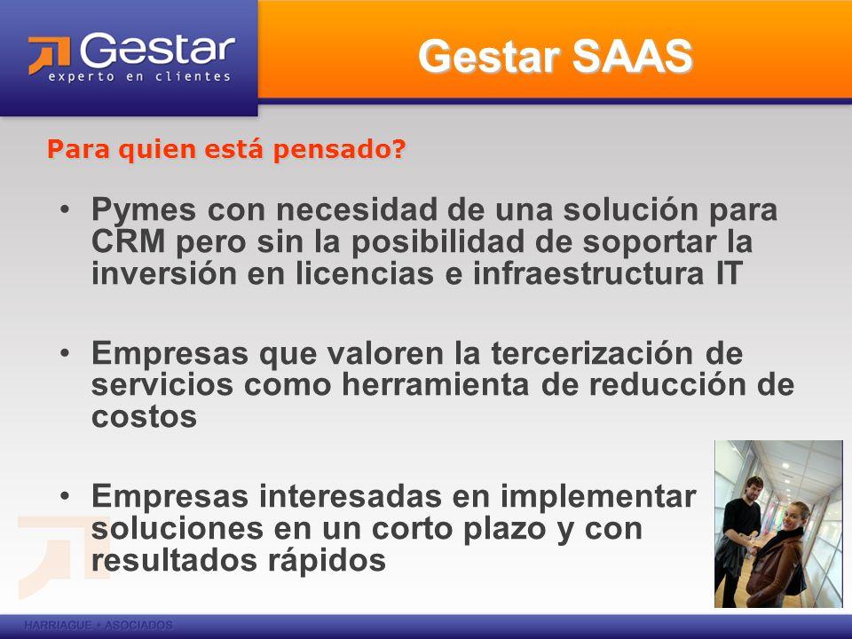 Gestar CRM –Customer Service –Sales & Campañas Que módulo le interesa.