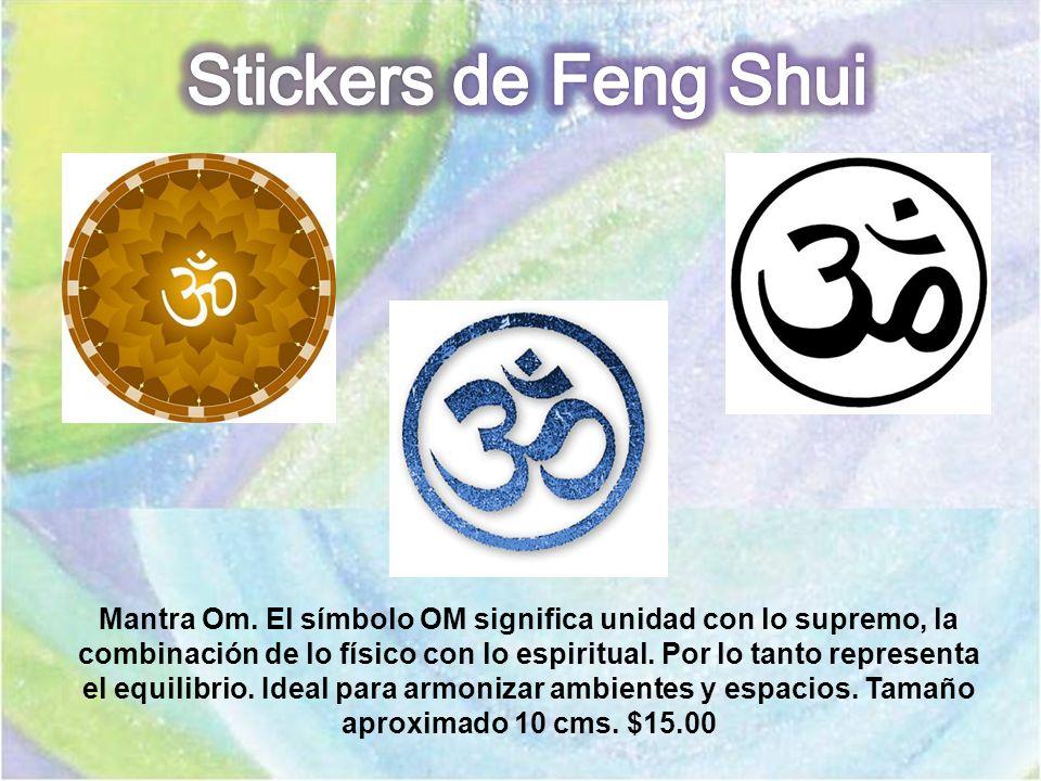 Mantra Om. El símbolo OM significa unidad con lo supremo, la combinación de lo físico con lo espiritual. Por lo tanto representa el equilibrio. Ideal