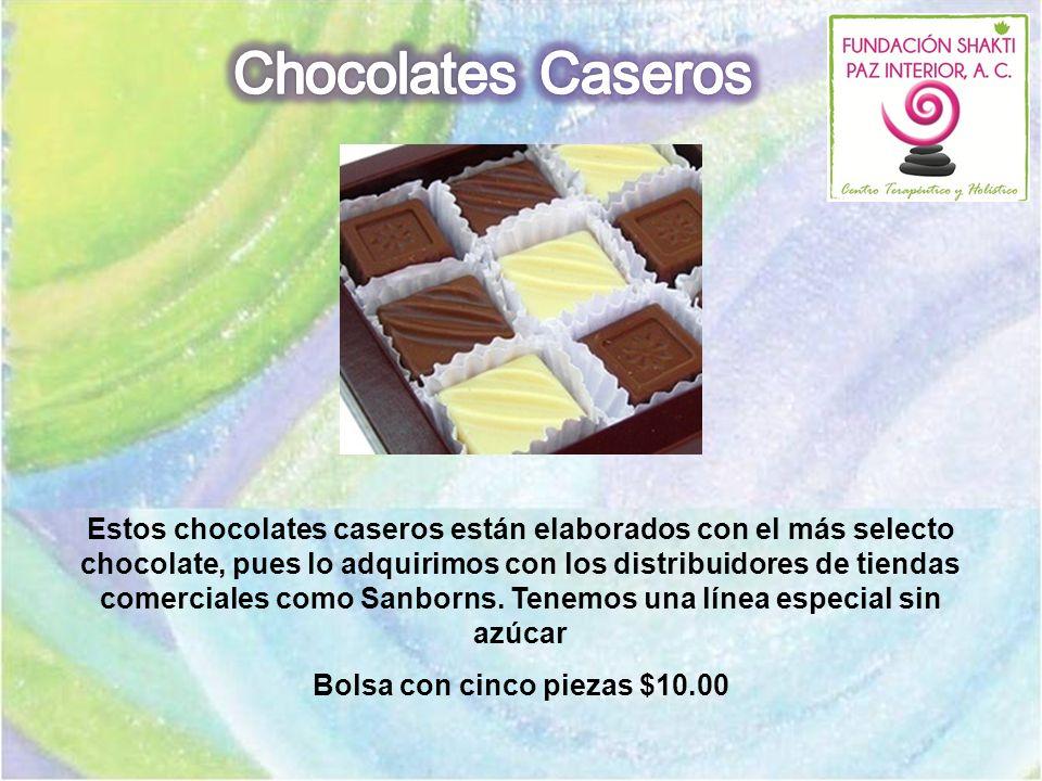 Estos chocolates caseros están elaborados con el más selecto chocolate, pues lo adquirimos con los distribuidores de tiendas comerciales como Sanborns