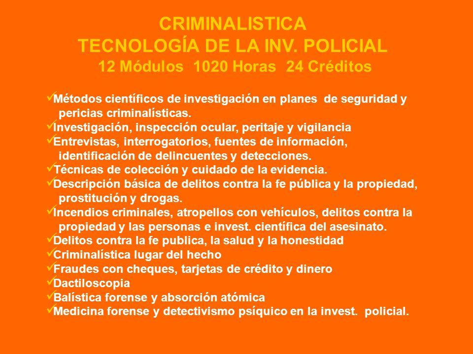 Métodos científicos de investigación en planes de seguridad y pericias criminalísticas. Investigación, inspección ocular, peritaje y vigilancia Entrev