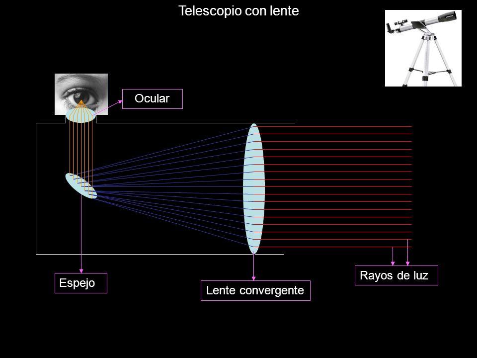 Lente convergente Ocular Espejo Telescopio con lente