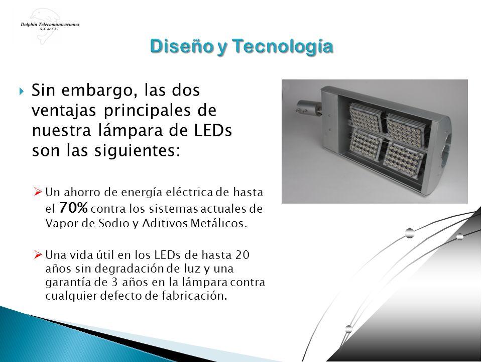 Sin embargo, las dos ventajas principales de nuestra lámpara de LEDs son las siguientes: Un ahorro de energía eléctrica de hasta el 70% contra los sis