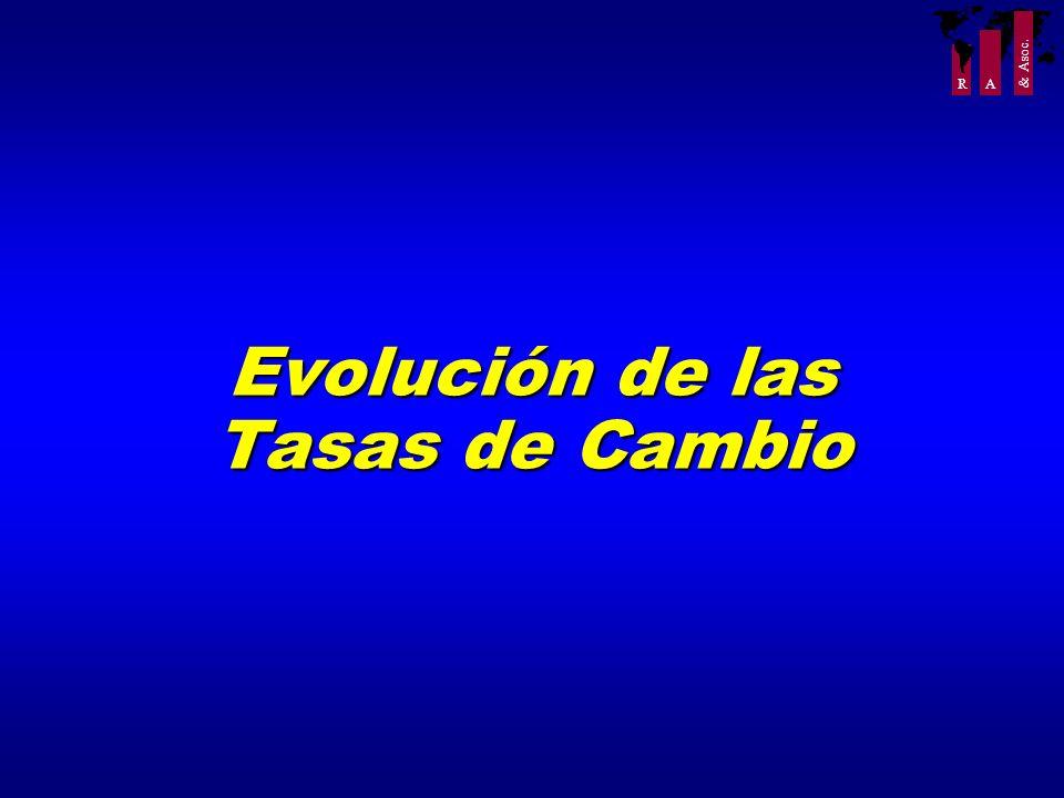 R A & Asoc. Evolución de las Tasas de Cambio