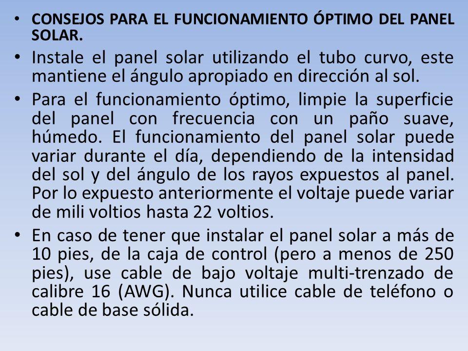 Paso 2: Determine donde va a instalar el panel solar.