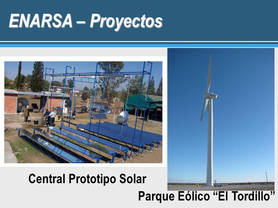 ENARSA – Proyectos Central Prototipo Solar Parque Eólico El Tordillo