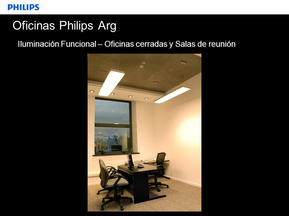SEGMENTO Oficinas Philips Arg Iluminación Funcional – Oficinas cerradas y Salas de reunión