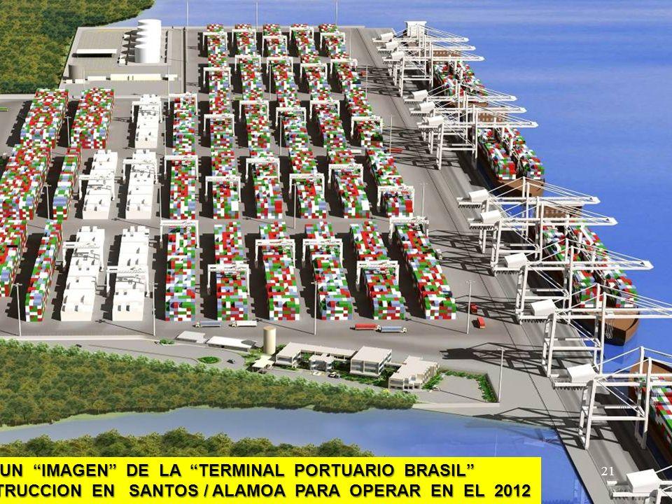 ESTO ES UN IMAGEN DE LA TERMINAL PORTUARIO BRASIL EN CONSTRUCCION EN SANTOS / ALAMOA PARA OPERAR EN EL 2012. 21