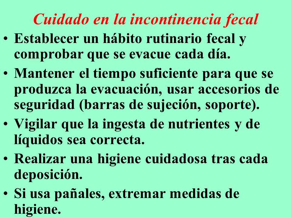 Cuidados en el estreñimiento Revisar que la alimentación no sea escasa en fibra, la _ingesta de líquidos sea adecuada y que la actividad física no sea reducida.