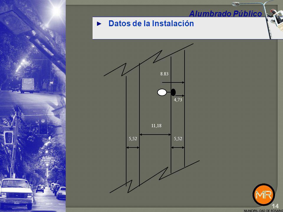 Datos de la Instalación Alumbrado Público 15