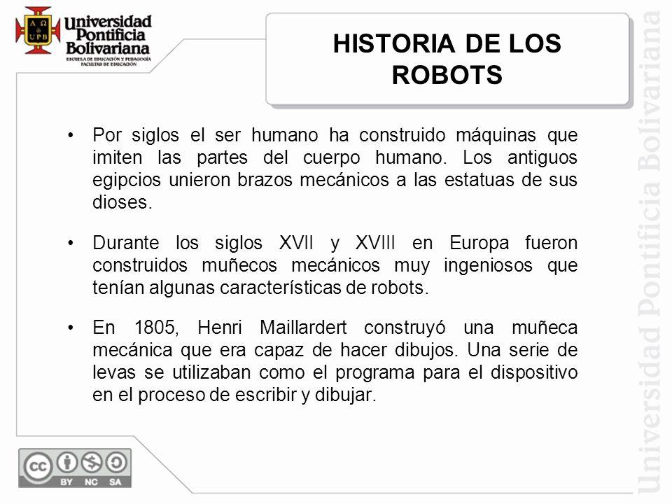 La palabra robot es de origen Checo y significa trabajo.