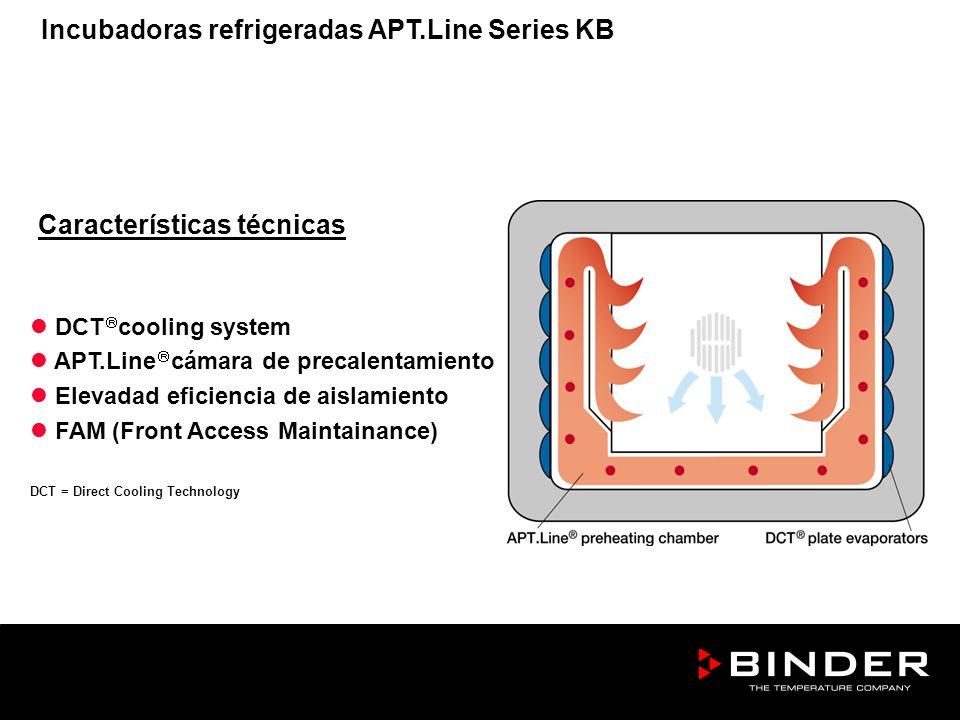 Características técnicas DCT cooling system APT.Line cámara de precalentamiento Elevadad eficiencia de aislamiento FAM (Front Access Maintainance) DCT