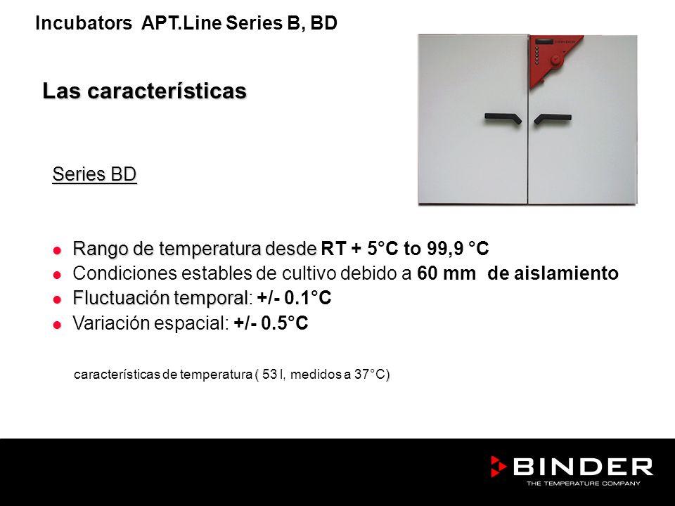 Series BD Rango de temperatura desde Rango de temperatura desde RT + 5°C to 99,9 °C Condiciones estables de cultivo debido a 60 mm de aislamiento Fluc