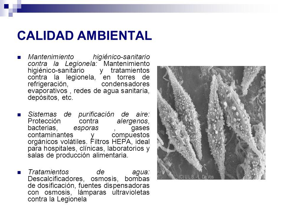 CALIDAD AMBIENTAL Mantenimiento higiénico-sanitario contra la Legionela: Mantenimiento higiénico-sanitario y tratamientos contra la legionela, en torr