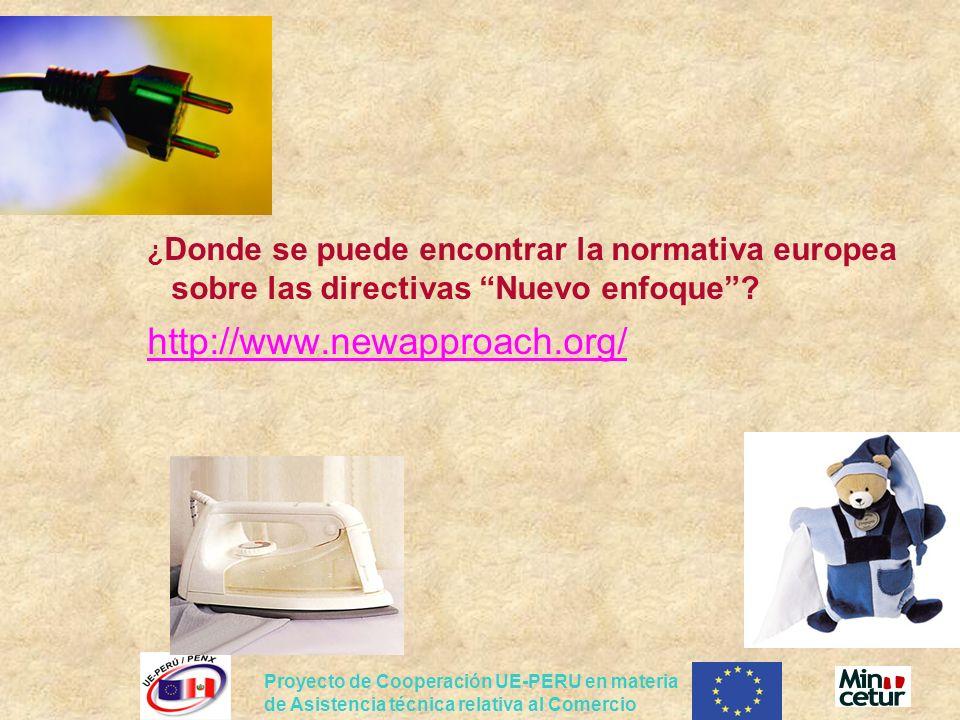 Proyecto de Cooperación UE-PERU en materia de Asistencia técnica relativa al Comercio ¿ Donde se puede encontrar la normativa europea sobre las direct