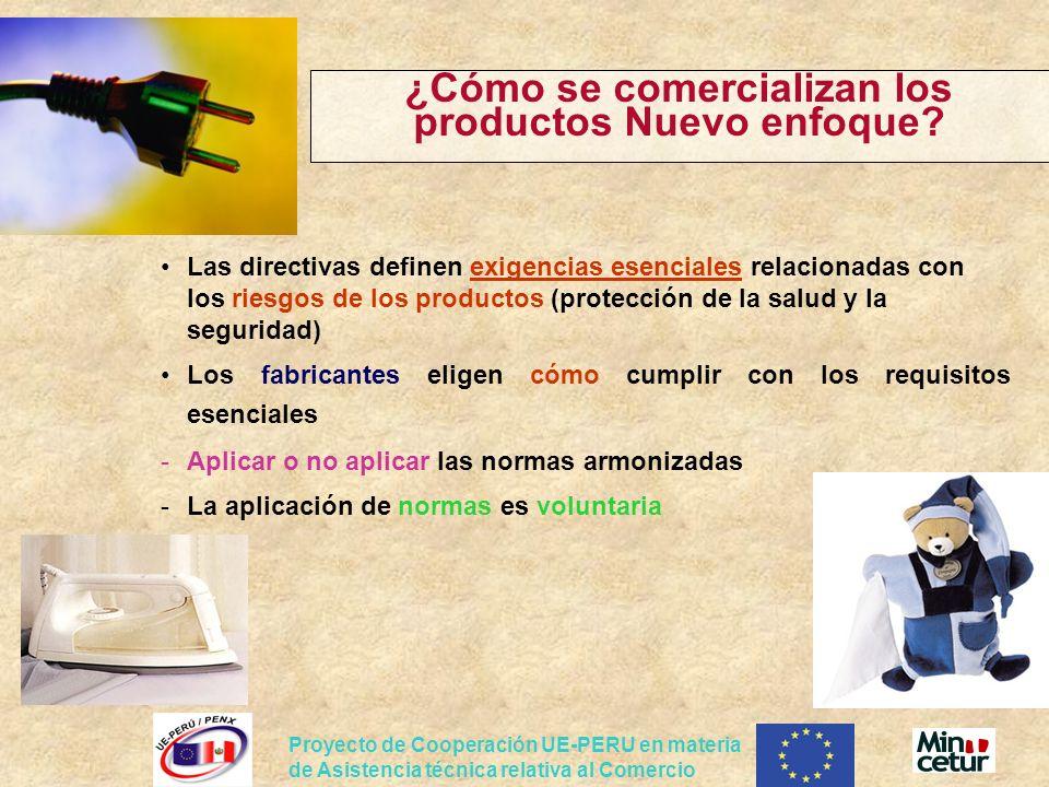 Proyecto de Cooperación UE-PERU en materia de Asistencia técnica relativa al Comercio ¿Cómo se comercializan los productos Nuevo enfoque? Las directiv