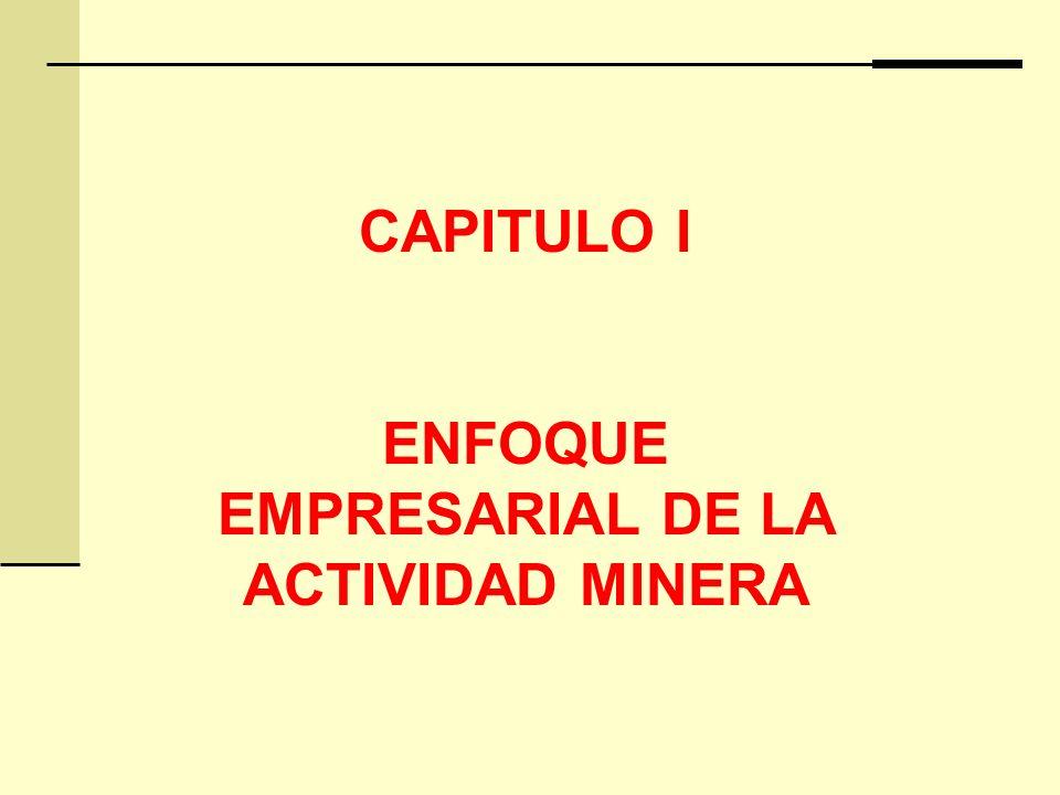 CAPITULO I ENFOQUE EMPRESARIAL DE LA ACTIVIDAD MINERA