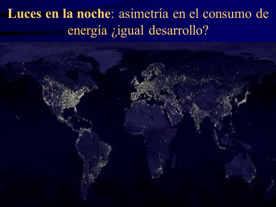 Luces en la noche: asimetría en el consumo de energía ¿igual desarrollo?