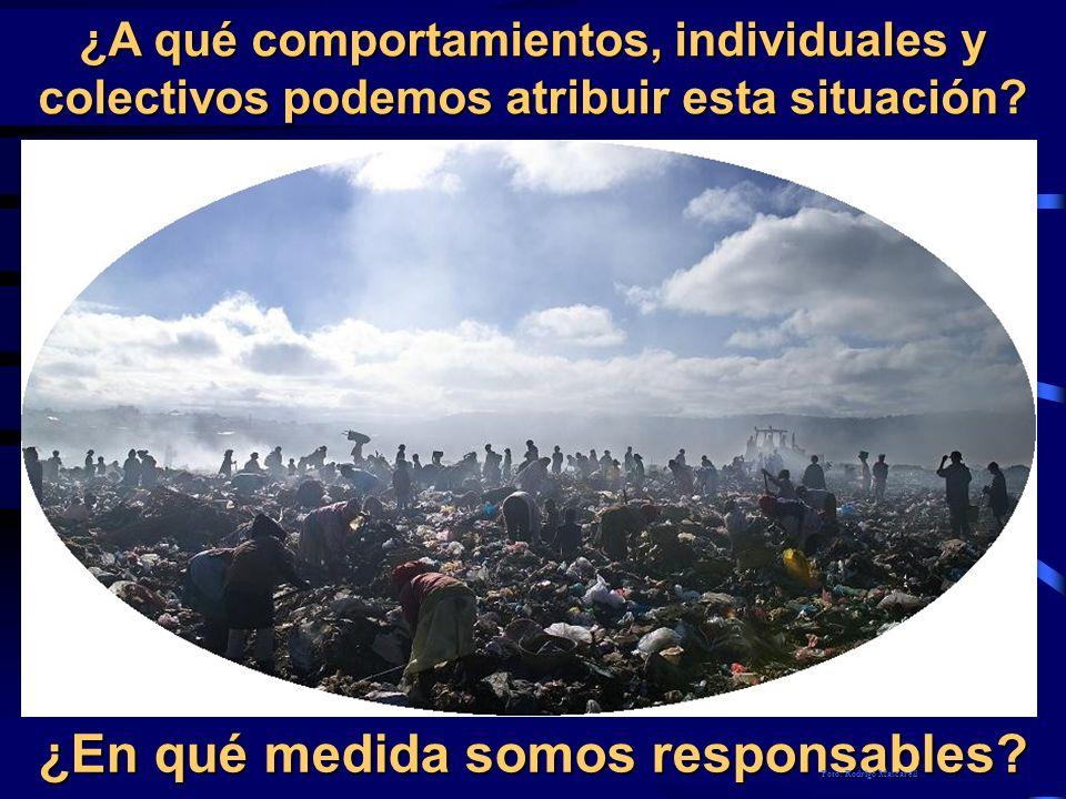 ¿A qué comportamientos, individuales y colectivos podemos atribuir esta situación? ¿En qué medida somos responsables? Foto: Rodrigo Mascarell