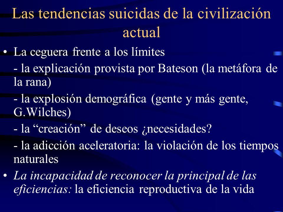 Las tendencias suicidas de la civilización actual La ceguera frente a los límites - la explicación provista por Bateson (la metáfora de la rana) - la