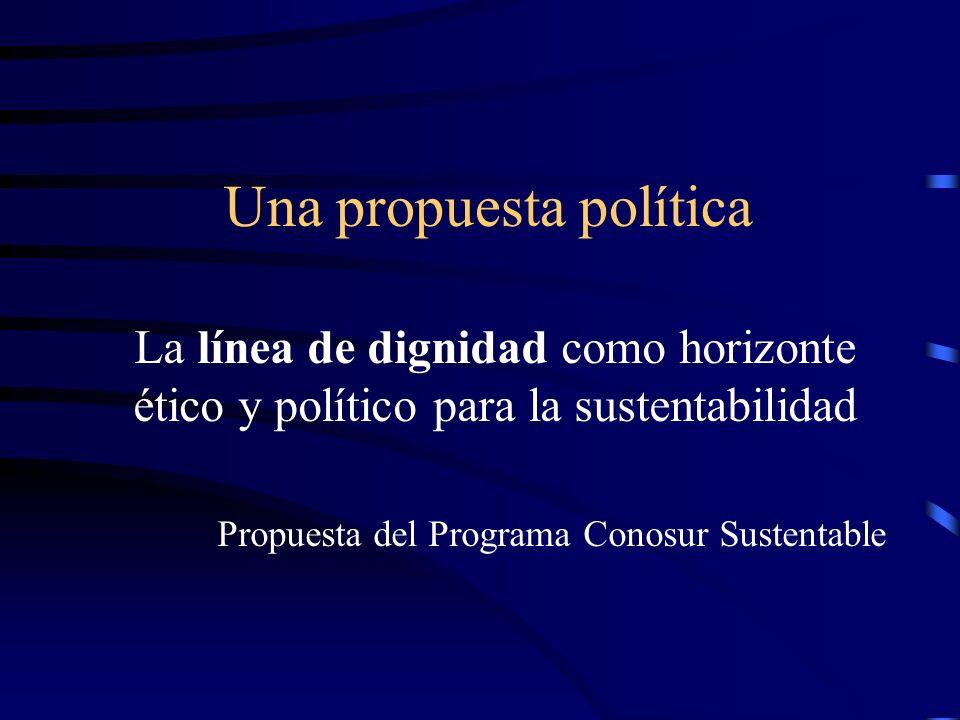 Una propuesta política La línea de dignidad como horizonte ético y político para la sustentabilidad Propuesta del Programa Conosur Sustentable