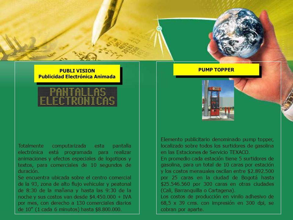 PUBLI VISION Publicidad Electrónica Animada PUBLI VISION Publicidad Electrónica Animada Totalmente computarizada esta pantalla electrónica está progra