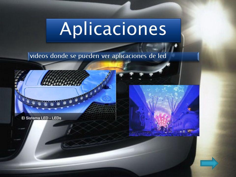 Aplicaciones videos donde se pueden ver aplicaciones de led